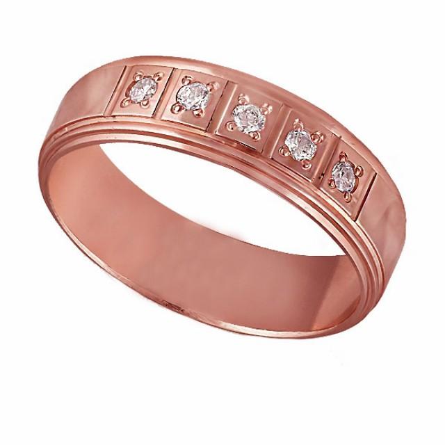 Золотое обручальное кольцо К208 фото