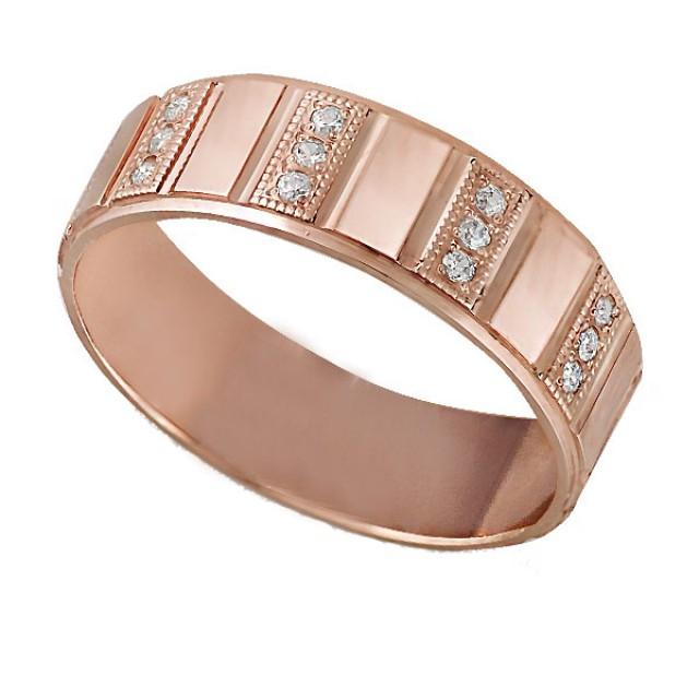 Золотое обручальное кольцо К209