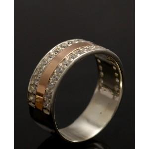 Серебряное кольцо 1002к фото