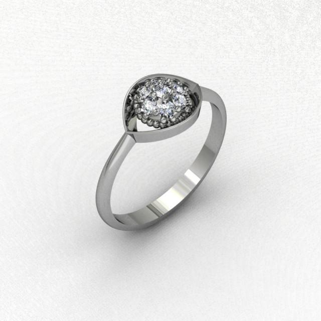 Серебряное кольцо 9621651е