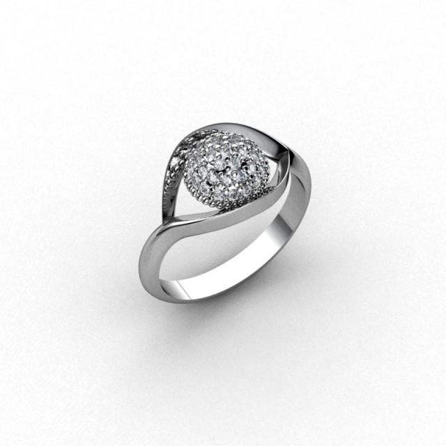 Серебряное кольцо 9621652е