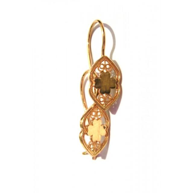 Золотые серьги детские 203-054