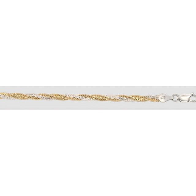 Серебряная цепь Коса 103А3
