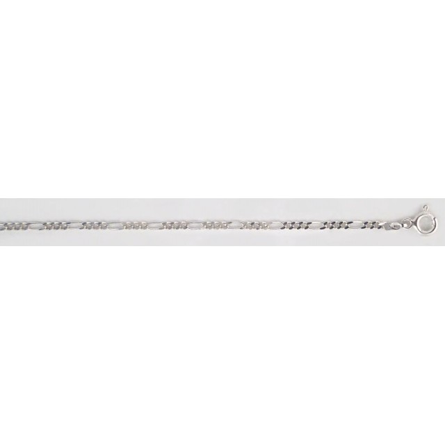 Серебряная цепь Фигаро (Картье) 3+1 8094