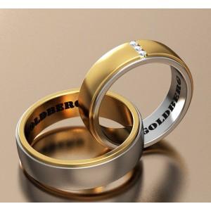 Золотое обручальное кольцо Goldberg 10-93