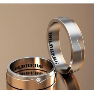 Золотое обручальное кольцо Goldberg 10-96