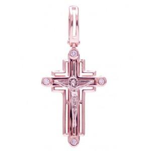 Золотой крест с цирконами 270086