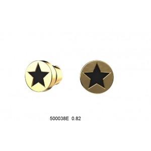 Золотые серьги с эмалью 500038Е