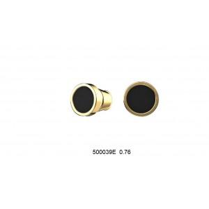 Золотые серьги с эмалью 500039Е