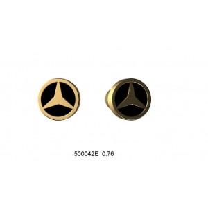 Золотые серьги с эмалью 500042Е