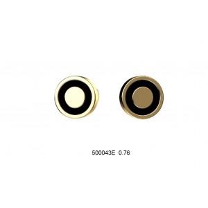 Золотые серьги с эмалью 500043Е