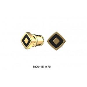 Золотые серьги с эмалью 500044Е