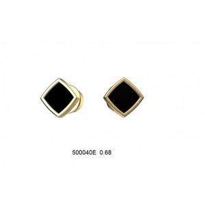 Золотые серьги с эмалью 500049Е