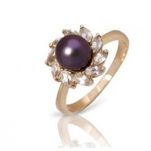 Золотое кольцо с жемчугом 0220 goldencl