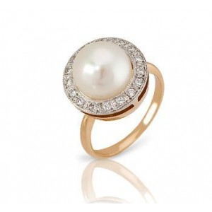 Золотое кольцо с жемчугом 0465 goldencl