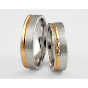Золотое обручальное кольцо 1-1euro