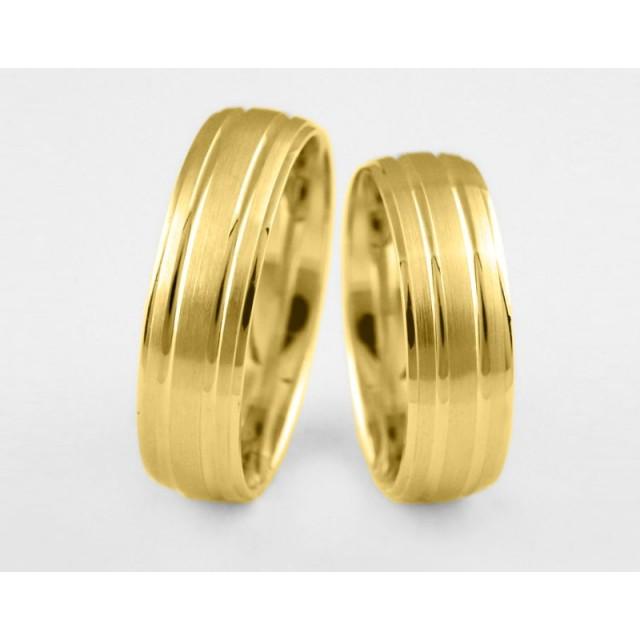 Золотое обручальное кольцо 1-126 euro