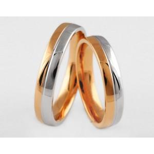 Золотое обручальное кольцо 1-134 euro фото