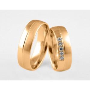 Золотое обручальное кольцо 1-14 euro
