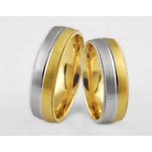 Золотое обручальное кольцо 1-142 euro фото