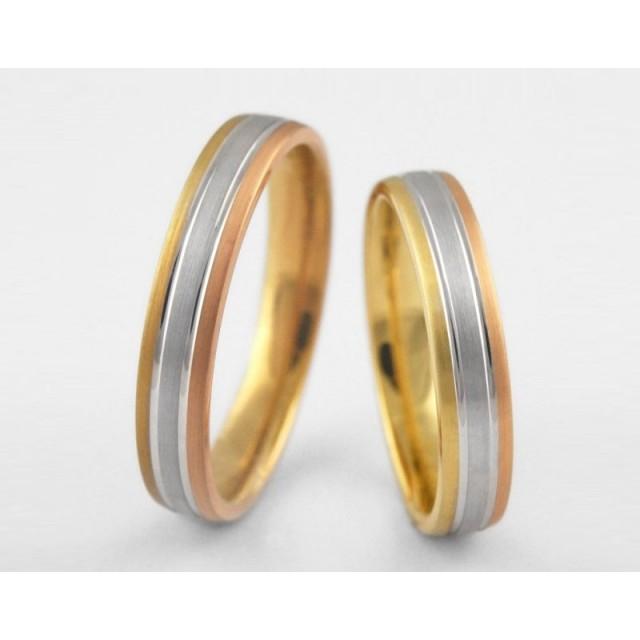 Золотое обручальное кольцо 1-151 euro фото