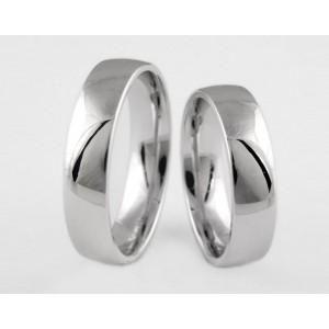 Серебряное обручальное кольцо 1-154 silver
