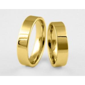 Золотое обручальное кольцо 1-162 euro фото