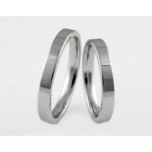 Серебряное обручальное кольцо 1-166 silver