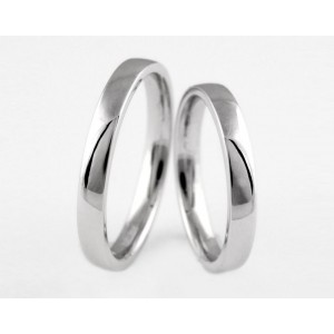 Серебряное обручальное кольцо 1-169 silver