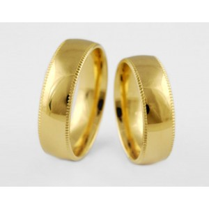 Золотое обручальное кольцо 1-172 euro фото