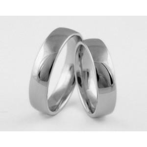 Серебряное обручальное кольцо 1-180 silver