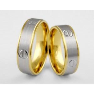 Золотое обручальное кольцо 1-187 euro