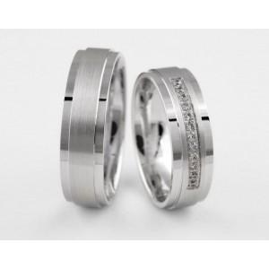Серебряное обручальное кольцо 1-19 silver