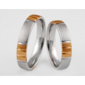 Золотое обручальное кольцо 1-194 euro фото