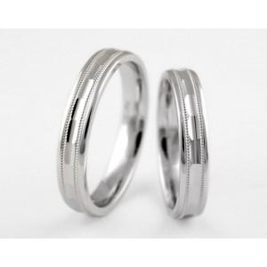 Серебряное обручальное кольцо 1-196 silver