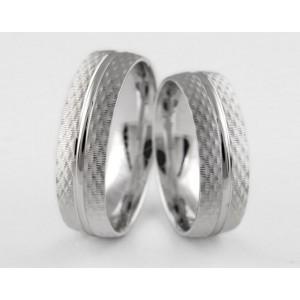 Серебряное обручальное кольцо 1-199 silver