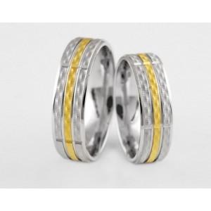 Золотое обручальное кольцо 1-208 euro фото