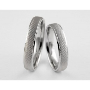 Серебряное обручальное кольцо 1-211 silver