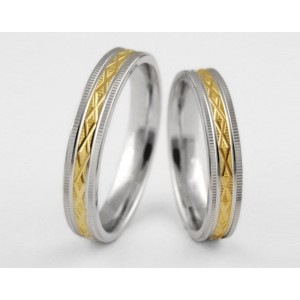 Золотое обручальное кольцо 1-217 euro фото