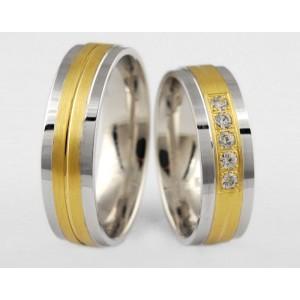 Золотое обручальное кольцо 1-22 euro фото