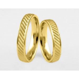 Золотое обручальное кольцо 1-222 euro фото