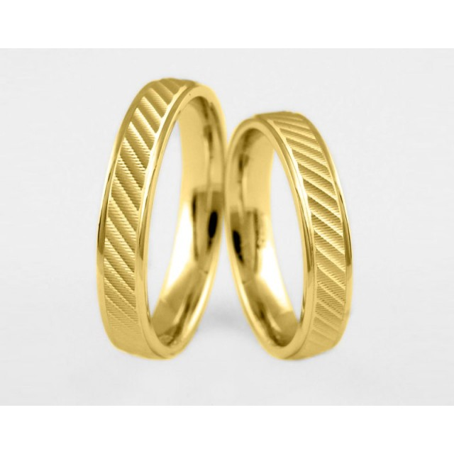 Золотое обручальное кольцо 1-222 euro