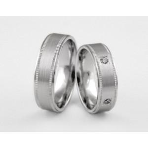 Серебряное обручальное кольцо 1-229 silver