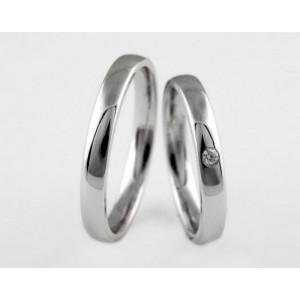 Серебряное обручальное кольцо 1-250 silver