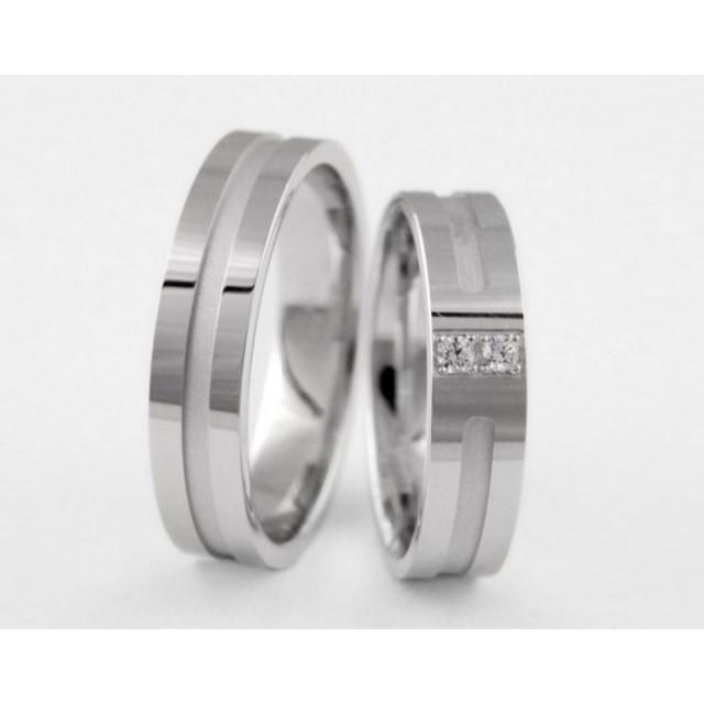 Серебряное обручальное кольцо 1-256 silver