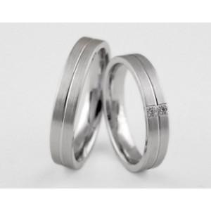 Серебряное обручальное кольцо 1-262 silver