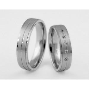 Серебряное обручальное кольцо 1-273 silver