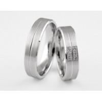 Серебряное обручальное кольцо 1-280 silver
