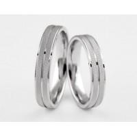 Серебряное обручальное кольцо 1-292 silver
