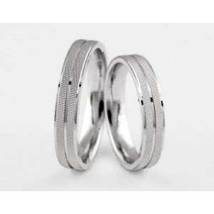 Серебряное обручальное кольцо 1-292 silver фото